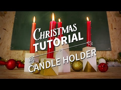How To  Make A Candle Holder - Christmas Homemade Gift Tutorial [ManoMano UK]