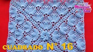 Cuadrado De Girasol Tejido A Crochet Para Colchas Y Cojines Paso A