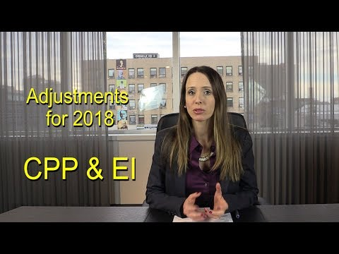Changes to CPP and EI for 2018