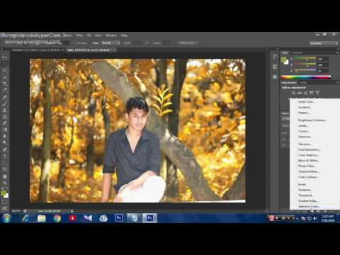 how to change background color on adobe photoshop cs6