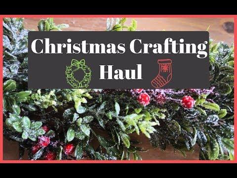 Michael's Holiday Haul   Christmas Crafting Supplies