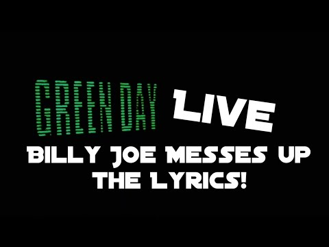 Billy Joe Armstrong Messes Up the Lyrics to Still Breathing [Live in Little Rock, AR]