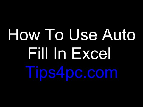 Excel Basics - How To Use Auto Fill In MS Excel