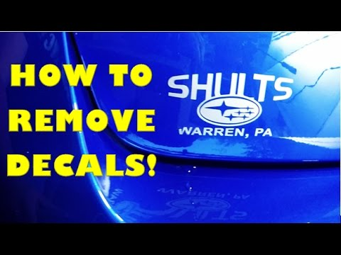 How To Remove Decal/Stickers off Your Car!!