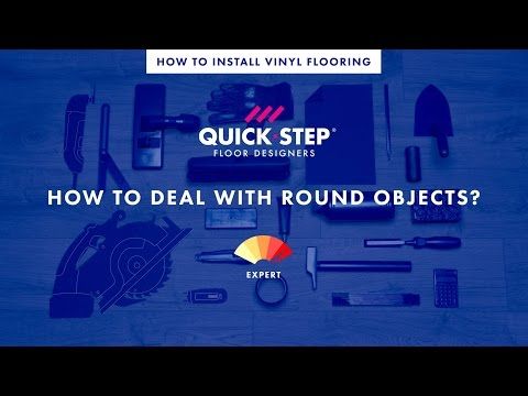 How to lay a vinyl floor around round objects | Tutorial by Quick-Step