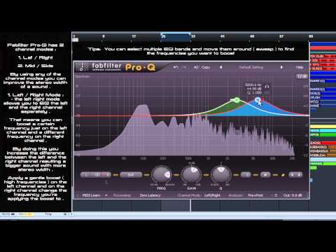 Mixing tutorial | How to get big stereo synths sound using EQ | Fabfilter Pro-Q