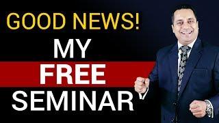 Good News! My Free Seminar | by Dr Vivek Bindra