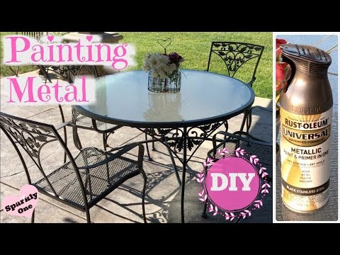 💖 How To Paint Metal with Rust-Oleum Universal Paint 💖
