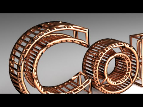 Blender Tutorial: Copper Wire Text