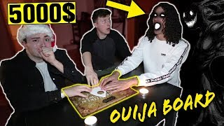 LAST PERSON TO TOUCH THE OUIJA BOARD WINS 5000$ CASH!! *FRIEND GETS TAKEN!*
