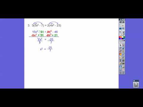Imaginary Solutions to Simple Quadratic Equations - Module 11.1 (Part 3)