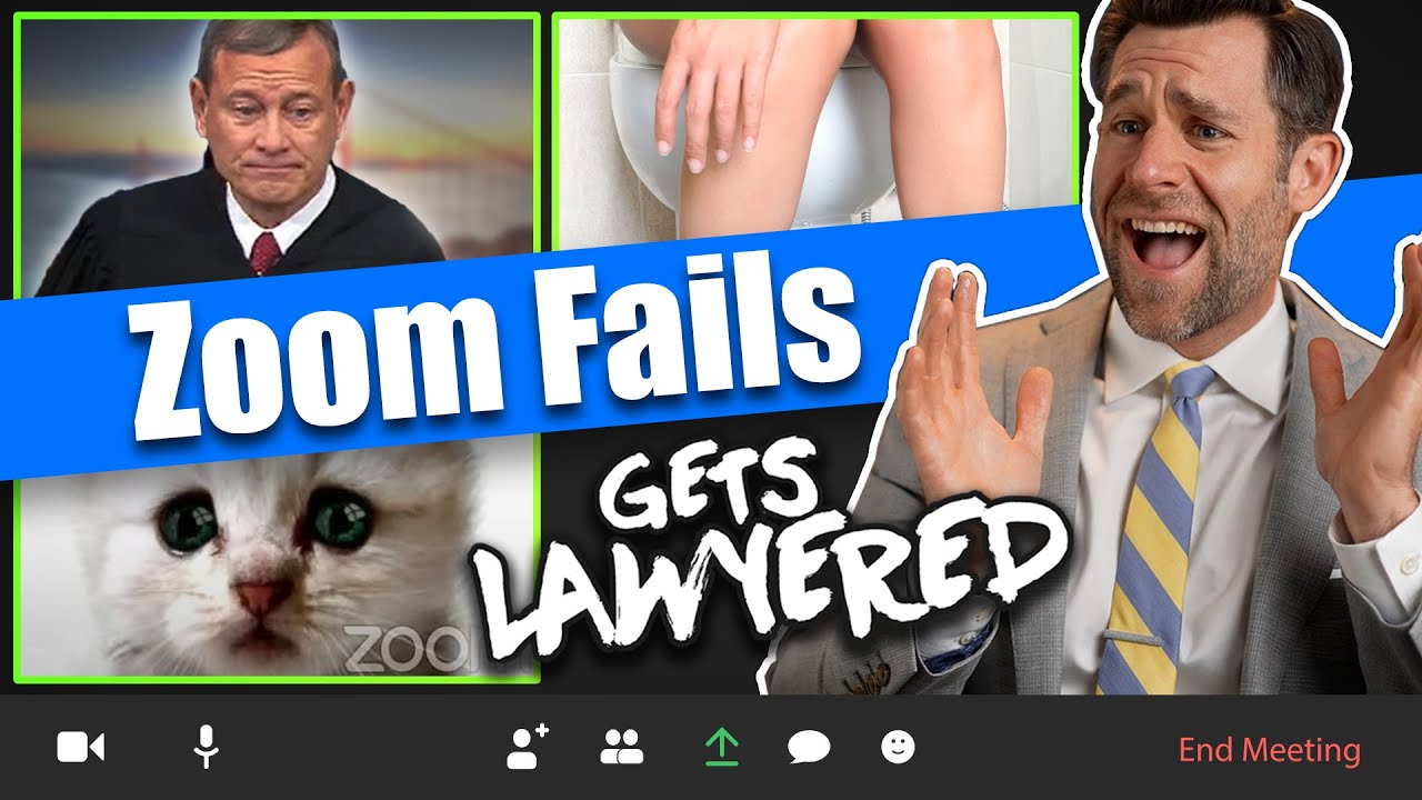 Lawyer Reacts to the most EPIC Zoom Fails