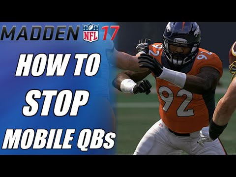 MADDEN 17 DEFENSIVE TIPS   HOW TO STOP MOBILE QBs