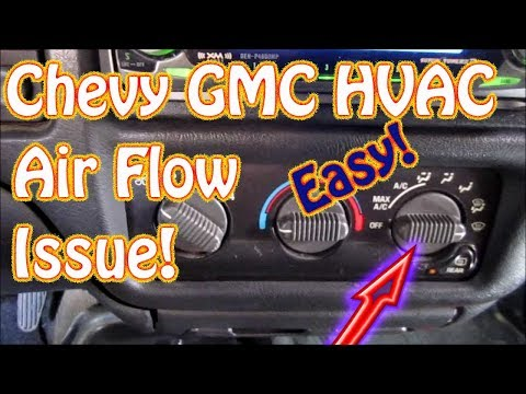 GMC Jimmy, S10, Blazer DIY How to Diagnose HVAC Mode Control - Vent - Defrost - Floor Selector