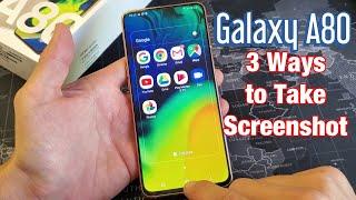 Galaxy A80: How to Take Screenshot (3 Ways) + Tips