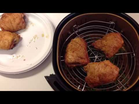 Power Air Fryer XL Reheating Chicken Thighs and Green Beans