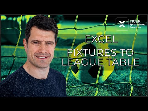 How to Collate Sports Fixtures Results into a League Table in Excel (6/6)