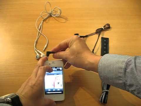 IPRF-P demo with iPhone 4s, std earphone