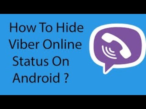 How To Hide Viber Online Status On Your Android Phone &  I PHONE