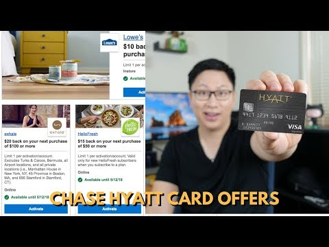 Chase Offers for Chase Hyatt April 2018