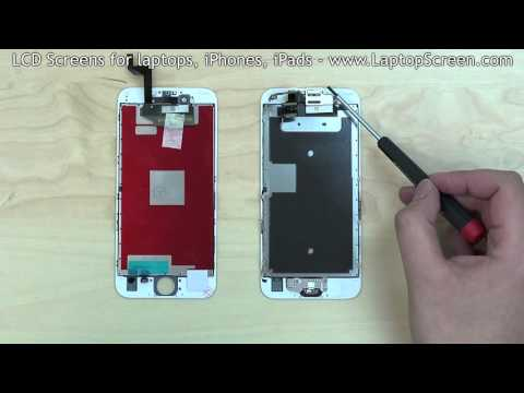 iPhone 6S screen replacement / digitizer glass and LCD reinstallation instructions