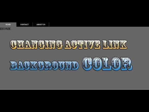 How to change current|Active Page link|button background color in navbar using| jquery in urdu