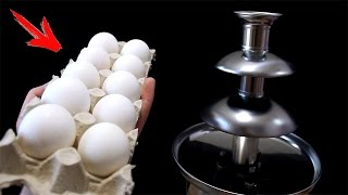 EXPERIMENT What Happen if You Drop EGGS into CHOCOLATE FOUNTAIN