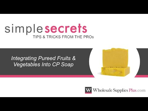 How to Integrate Pureed Fruits and Vegetables Into CP Soap {Simple Secrets}