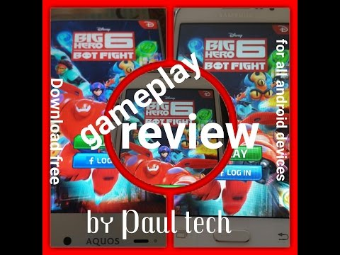 Samsung galaxy core prime big Hero 6 Bot Fight Gameplay/review