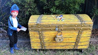 Captain Jake Found The BIGGEST Treasure X Chest Pirate Treasure Hunt Fun With CKN Toys