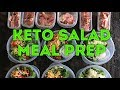 Keto Meal Prep - Keto Salad Lunch Ideas
