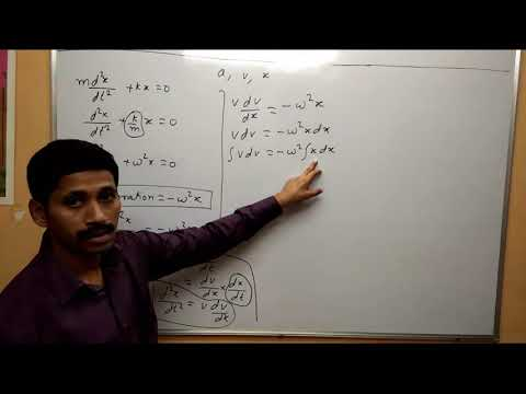 Differential  Equation of Linear S.H.M.  Oscillation Maharashtra Board Physics Class 12
