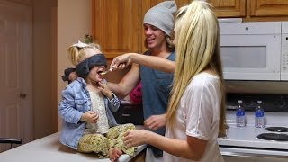 BLINDFOLD TASTE CHALLENGE WITH 3 YEAR OLD!!