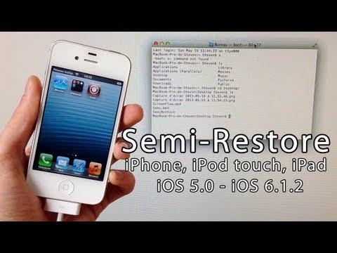 Semi-Restore iOS 6.1.2, 6.1.1, 6.1, 6.0.1, 6.0 iPhone 5, 4S, 4, 3GS, iPad Mini, iPod touch 4/5
