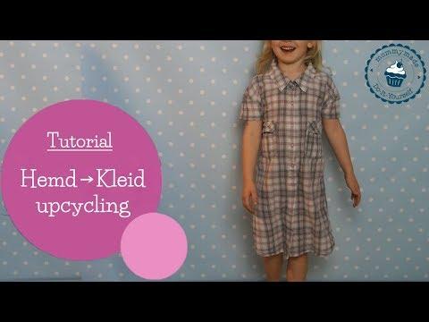 Upcycling Idee Herren Hemd Ärmel zu süßer Kinderhose nähen