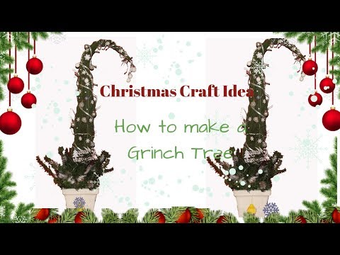 How to make a grinch tree ,whoville tree for Christmas using cytisus,thuja,cedar,cypress