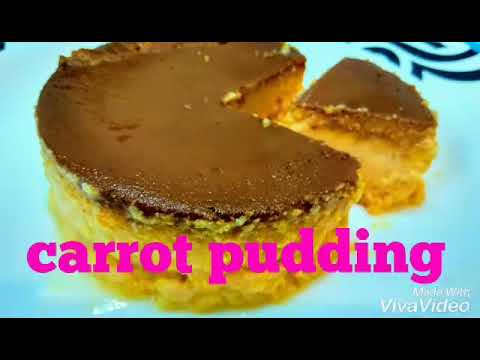How To Make Carrot pudding/ easy pudding without oven / simple evening snacks recipes in tamil
