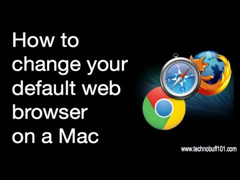 How to change your default web browser on a mac