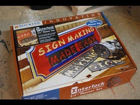 Rockler Interlock Sign Maker - Review (woodlogger.com)
