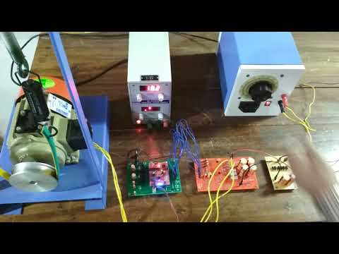 Induction motor speed control using variable frequency drive (VFD).