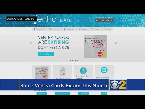 Some Ventra Cards Set To Expire At End Of December
