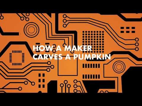 How a Maker Carves a Pumpkin