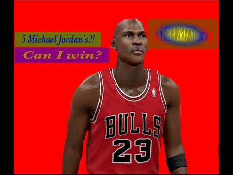 5 michael Jordan's against me. NBA 2k17 blacktop