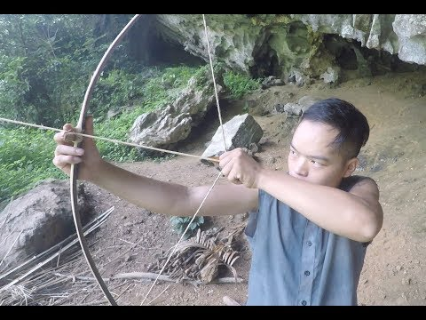Primitive Skills: Bow and Arrow Made From Bamboo