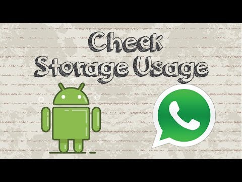 How to check Whatsapp  storage usage Android