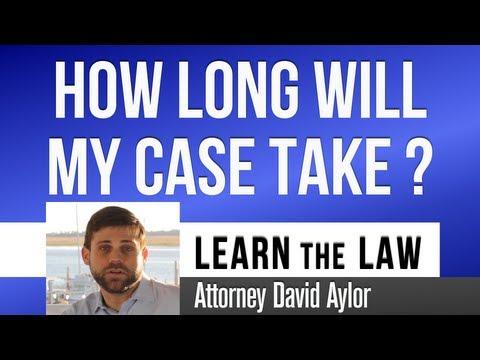 How Long Will My Injury Case Take? Charleston SC Personal Injury Lawyer David Aylor