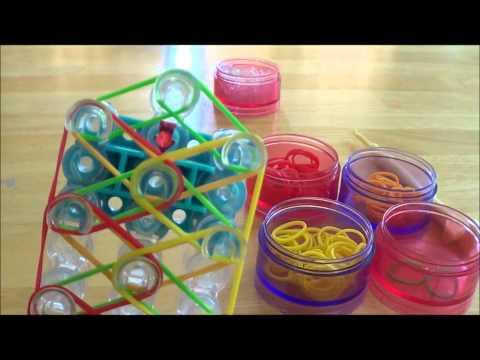 Rainbow loom Diamond with Rings