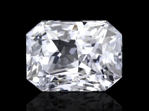 Buy the Most Perfect Radiant White Sapphire Stone Online