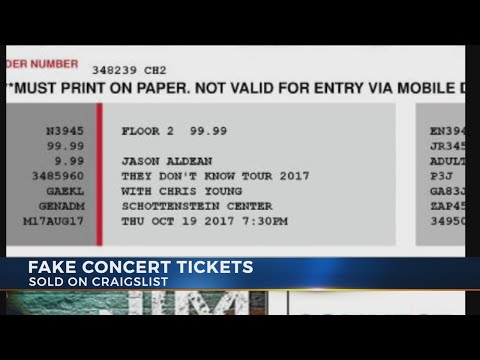 Police investigating man accused of selling fake concert tickets in Columbus