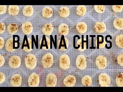 Dried Bananas: How to make Banana Chips
